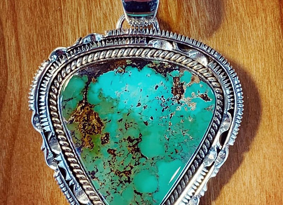 Artie Yellowhorse Big Bold Beautiful Royston Pendant