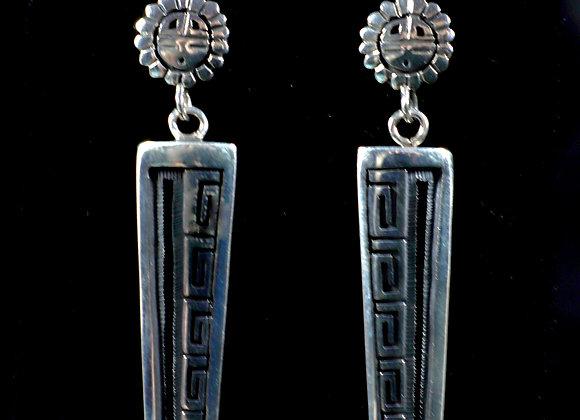 Striking Hopi Overlay Earrings