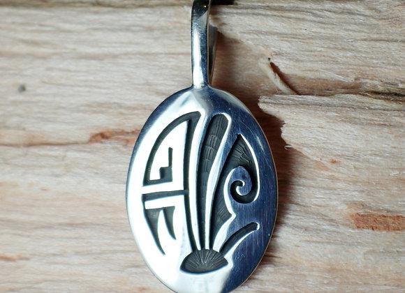 Hopi Overlay Sterling Pendant