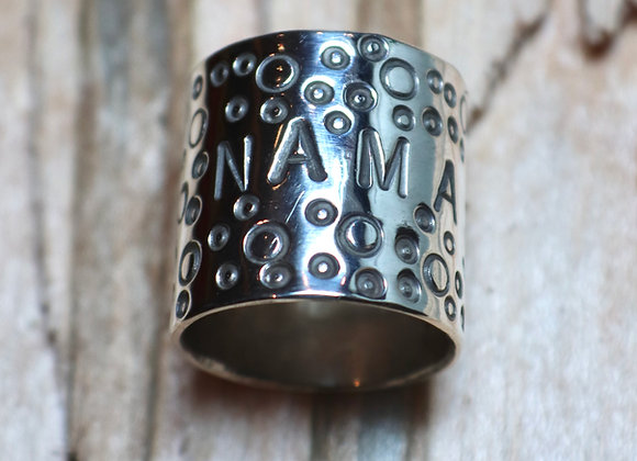 "Small Sterling Silver ""Namaste"" Band Ring"