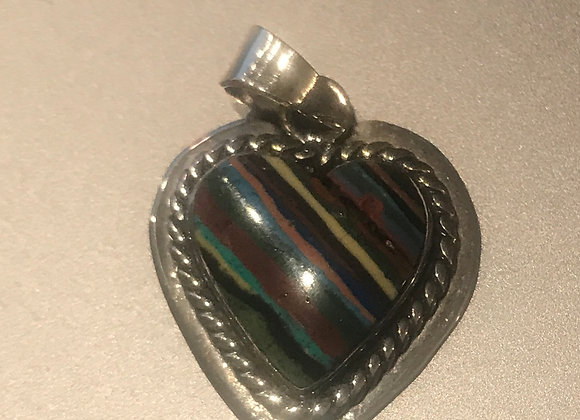 MultiStone Inlaid Heart