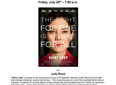 """""""SAINT JUDY"""" SCREENING AND DISCUSSION"""