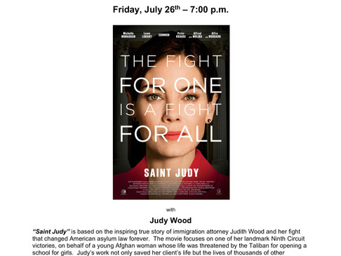 """SAINT JUDY"" SCREENING AND DISCUSSION"