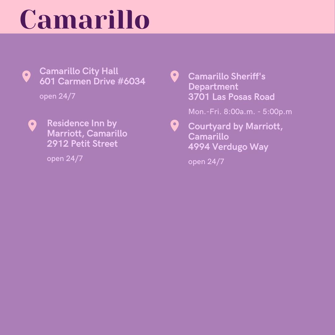 Ballot Drop-Off Locations in Camarillo