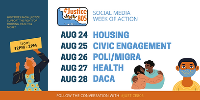 TWITTER - #JUSTICE805 Promotion Graphic.