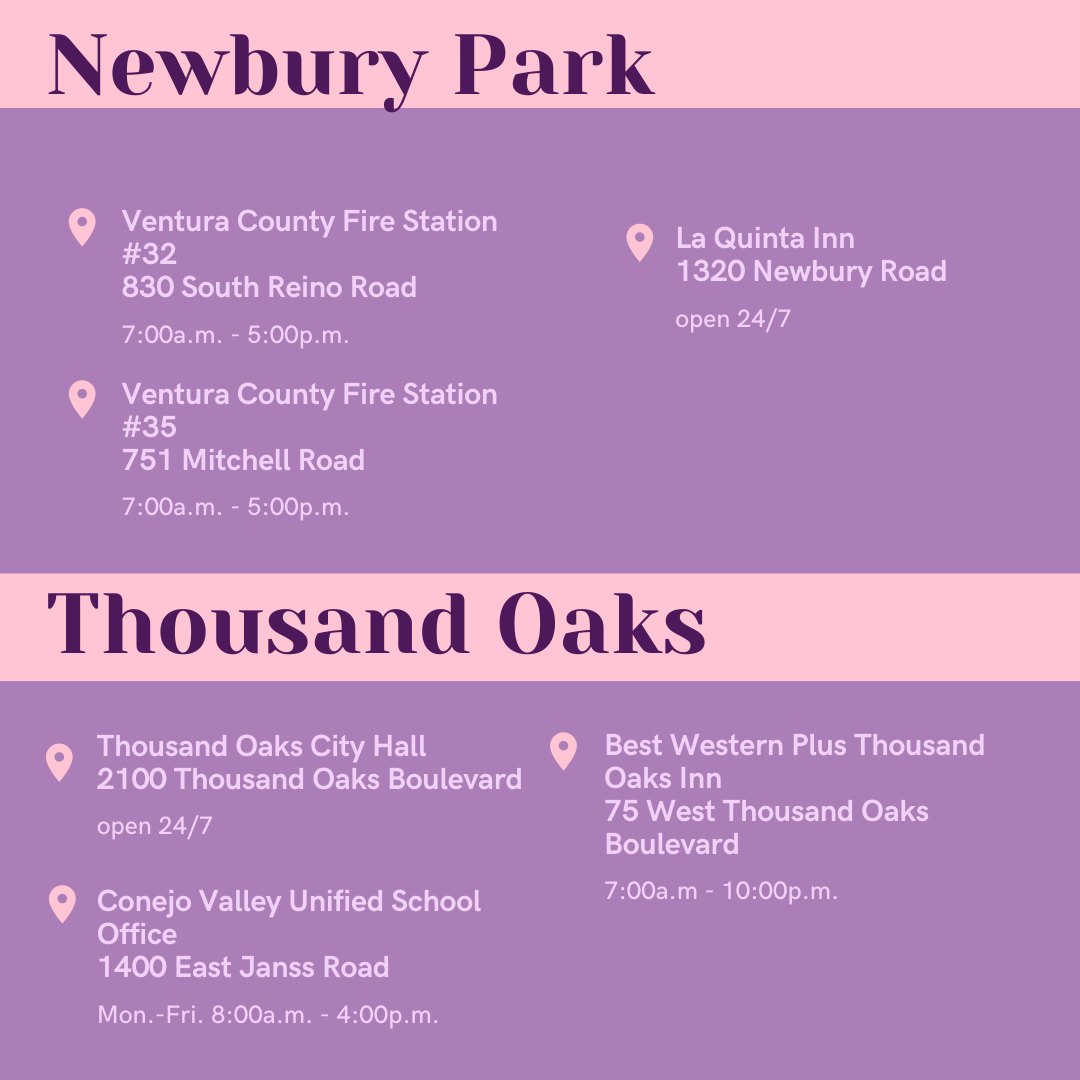 Ballot Drop-Off Locations in Newbury Park and Thousand Oaks