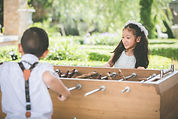 Little boy and girl in wedding concept d