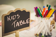 Kids entertainment table at a wedding wi