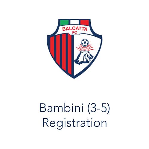 Bambini Registration 2021