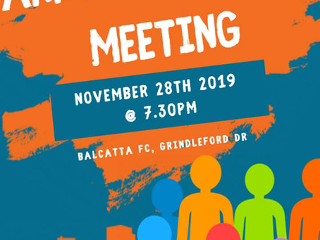 Balcatta FC - Annual General Meeting - 28 November 2019