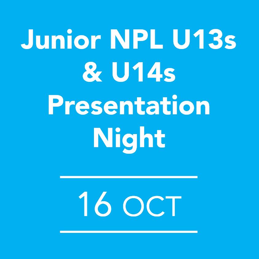Junior NPL U13s & U14s Presentation Night