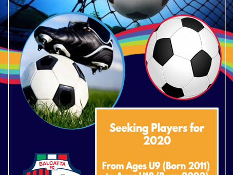Seeking Players for 2020