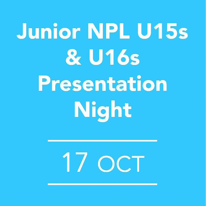 Junior NPL U15s & U16s Presentation Night