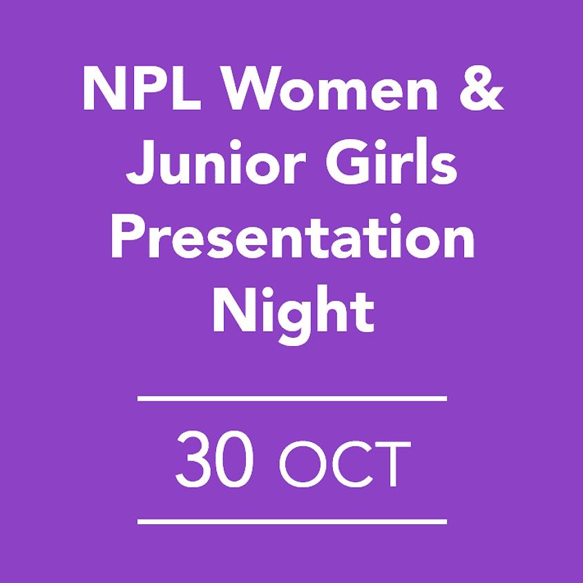 NPL Women & Junior Girls Presentation Night