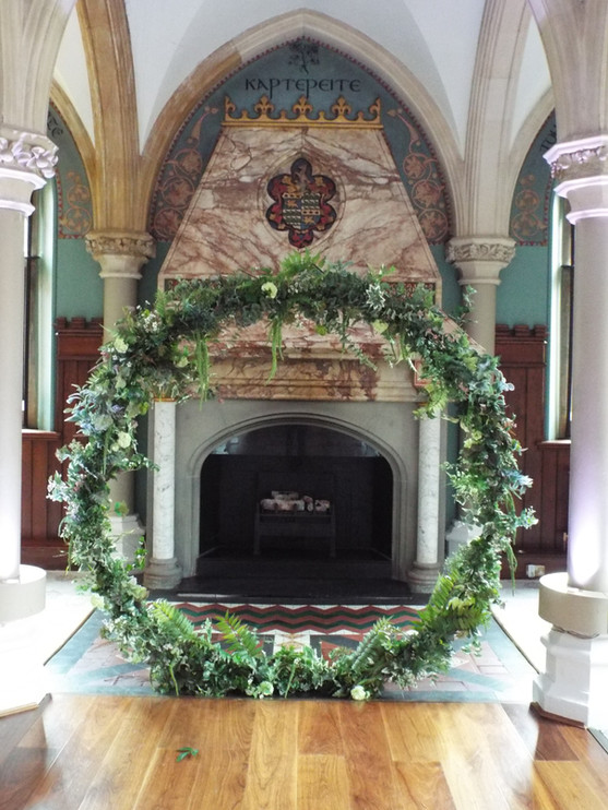 Wedding Floral Ceremonial Moongate Crescent Silk Foliage