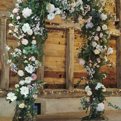 Floral Silk Archway