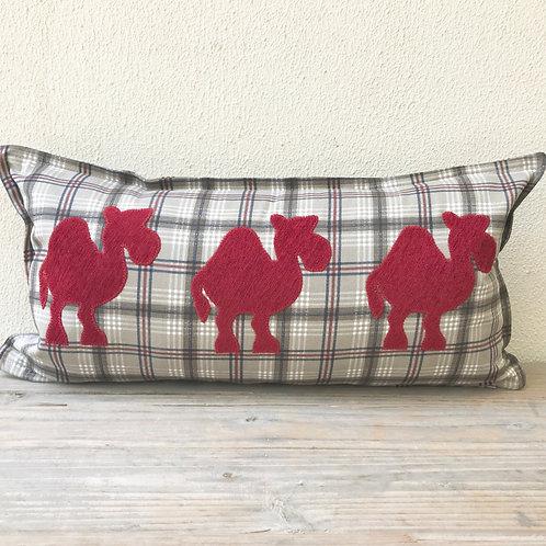 Appliqué Camel Train Cushion