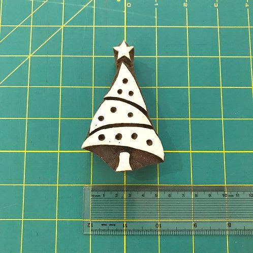Christmas Tree Wooden Block Stamp