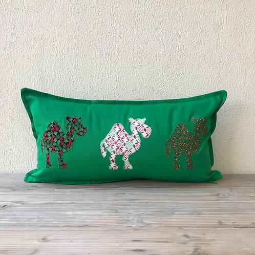 Christmas Camel Train Appliqué Cushion