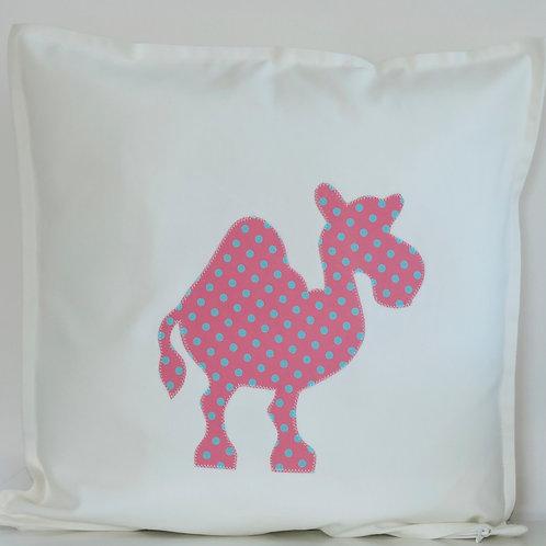 White Appliqué Camel Cushion