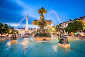 Canva - Lisbon, Portugal Rossio Square (