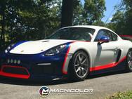 Porsche GT4 - Custom Partial Wrap