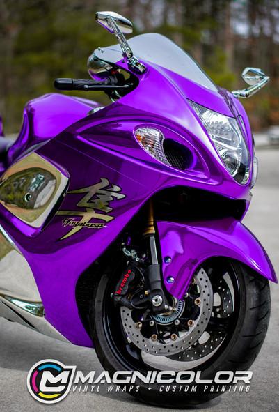 HAYABUSA MOTORCYCLE COLOR CHANGE CHROME