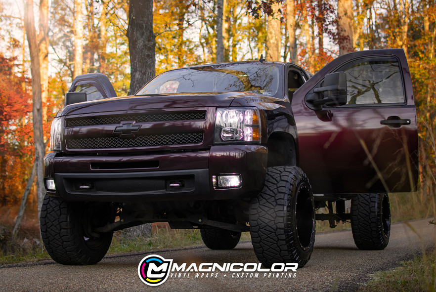 CHEVY Z71 GLOSS BLACK ROSE COLOR CHANGE