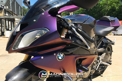 BMW Motorcycle - Color Change Wrap