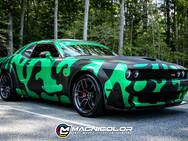 Dodge Challenger SRT - Color Change with Custom Cut Camo