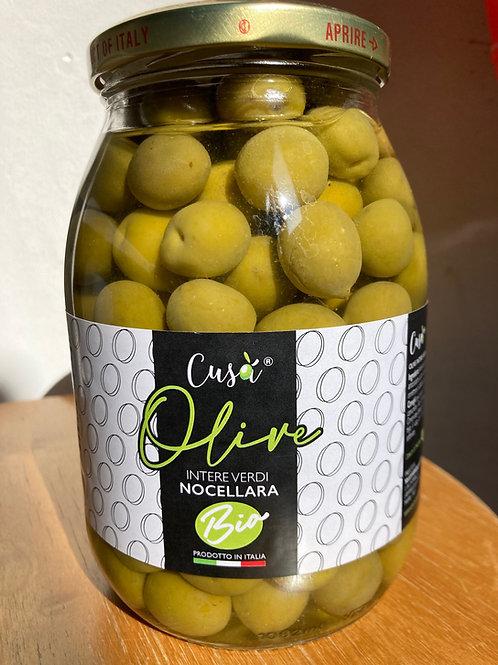 Olives vertes bio Cusà 650gr - bocal