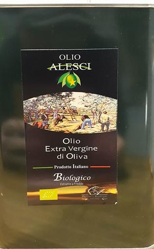 Huile d'olive vierge extra bio Alesci 5L
