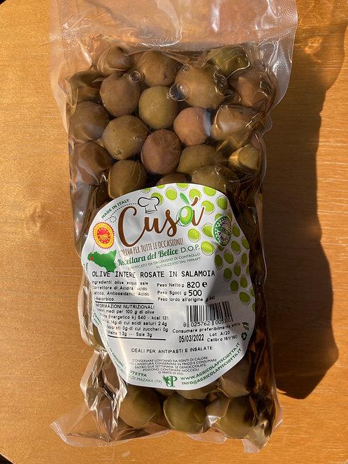 """Olives """"roses"""" Cusà au naturel, 500gr sachet"""