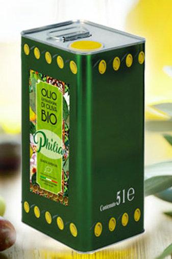 """Huile d'olive vierge extra bio Philia 2L """"prima goccia"""""""