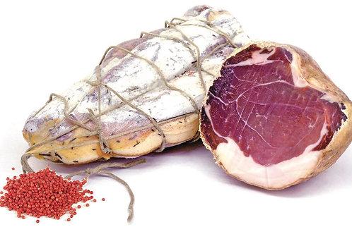 """Noix de jambon """"culicchio"""" finement tranchée, +/- 200gr, Fratelli Fasolo"""