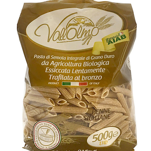 Penne intégrales 500gr Vallolmo