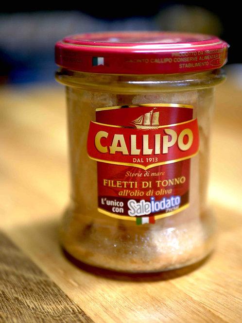 Filets de thon à l'huile d'olive, 170gr, Callipo