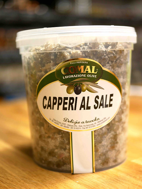 Câpres au sel, 1kg, Comal des Fratelli Fontana