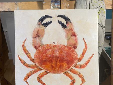 Crab paintings!