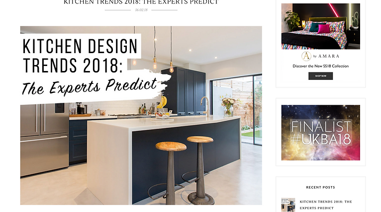 The LuxPad article featuring bespoke kitchen by Laura Gompertz Interiors Ltd