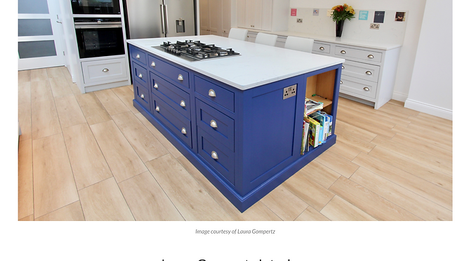 The LuxPad article featuring kitchen in London by Laura Gompertz