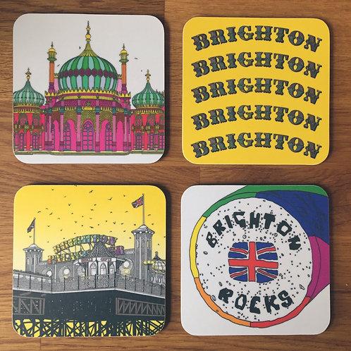 Brighton Coasters Yellow Set
