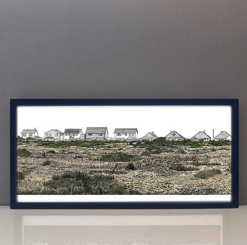 Dungeness houses giclée print