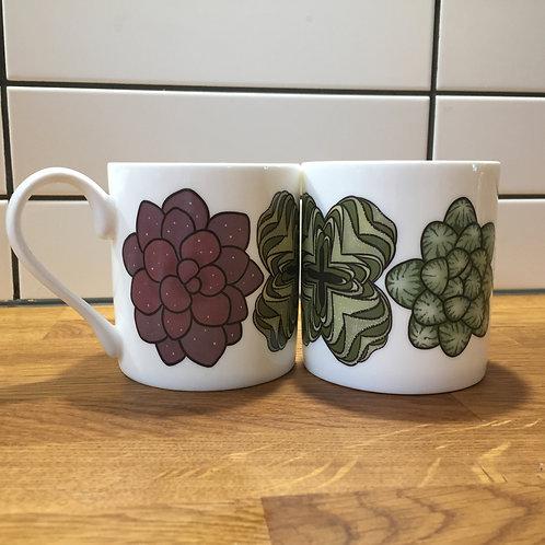 Succulent print mug