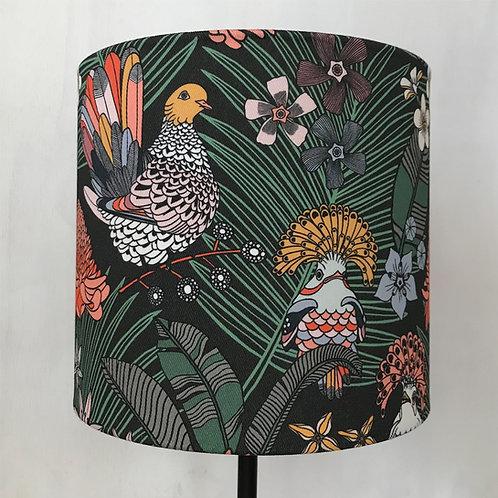 Green jungle print lampshade
