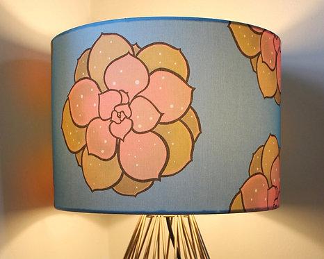Cyan succulent lampshade