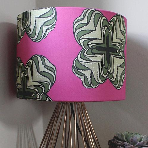 Magenta printed lampshade
