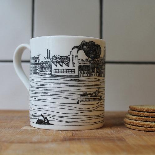 Black Gold china mug