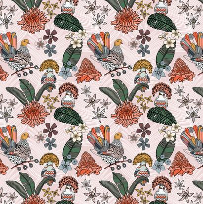Jungle Dove pattern Pink