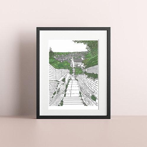 Green Brighton Illustration